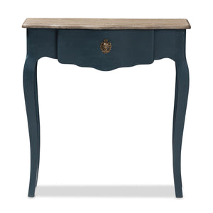 Baxton Studio Mazarine Classic and Provincial Blue Spruce Finished Console Table Baxton Studio-tv Stands-Minimal And Modern - 5