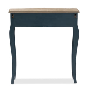 Baxton Studio Mazarine Classic and Provincial Blue Spruce Finished Console Table Baxton Studio-tv Stands-Minimal And Modern - 7