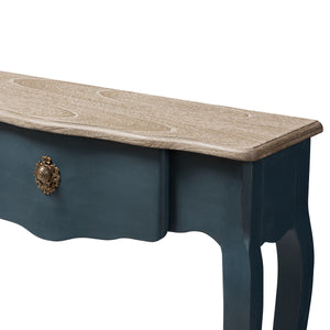 Baxton Studio Mazarine Classic and Provincial Blue Spruce Finished Console Table Baxton Studio-tv Stands-Minimal And Modern - 8