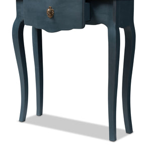 Baxton Studio Mazarine Classic and Provincial Blue Spruce Finished Console Table Baxton Studio-tv Stands-Minimal And Modern - 10