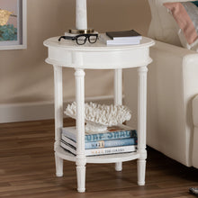 Baxton Studio Poire Country Cottage Farmhouse White Finished End Table Baxton Studio-coffee tables-Minimal And Modern - 5