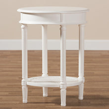 Baxton Studio Poire Country Cottage Farmhouse White Finished End Table Baxton Studio-coffee tables-Minimal And Modern - 6
