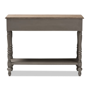 Baxton Studio Noemie Country Cottage Farmhouse Brown Finished 2-Drawer Console Table Baxton Studio-tv Stands-Minimal And Modern - 5