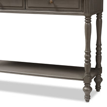 Baxton Studio Noemie Country Cottage Farmhouse Brown Finished 2-Drawer Console Table Baxton Studio-tv Stands-Minimal And Modern - 8
