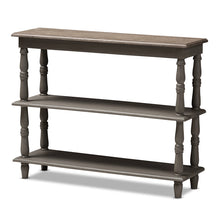 Baxton Studio Nellie Country Cottage Farmhouse Weathered Brown Finished Wood Console Table Baxton Studio-tv Stands-Minimal And Modern - 1