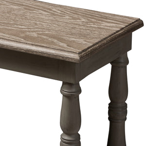 Baxton Studio Nellie Country Cottage Farmhouse Weathered Brown Finished Wood Console Table Baxton Studio-tv Stands-Minimal And Modern - 5