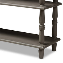 Baxton Studio Nellie Country Cottage Farmhouse Weathered Brown Finished Wood Console Table Baxton Studio-tv Stands-Minimal And Modern - 6