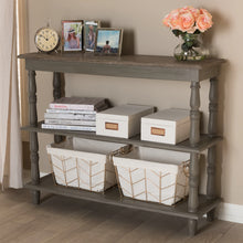 Baxton Studio Nellie Country Cottage Farmhouse Weathered Brown Finished Wood Console Table Baxton Studio-tv Stands-Minimal And Modern - 7