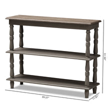 Baxton Studio Nellie Country Cottage Farmhouse Weathered Brown Finished Wood Console Table Baxton Studio-tv Stands-Minimal And Modern - 9