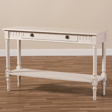 Baxton Studio Ariella Country Cottage Farmhouse Whitewashed 1-Drawer Console Table Baxton Studio-tv Stands-Minimal And Modern - 2