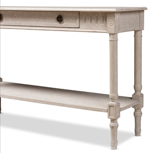 Baxton Studio Ariella Country Cottage Farmhouse Whitewashed 1-Drawer Console Table Baxton Studio-tv Stands-Minimal And Modern - 10