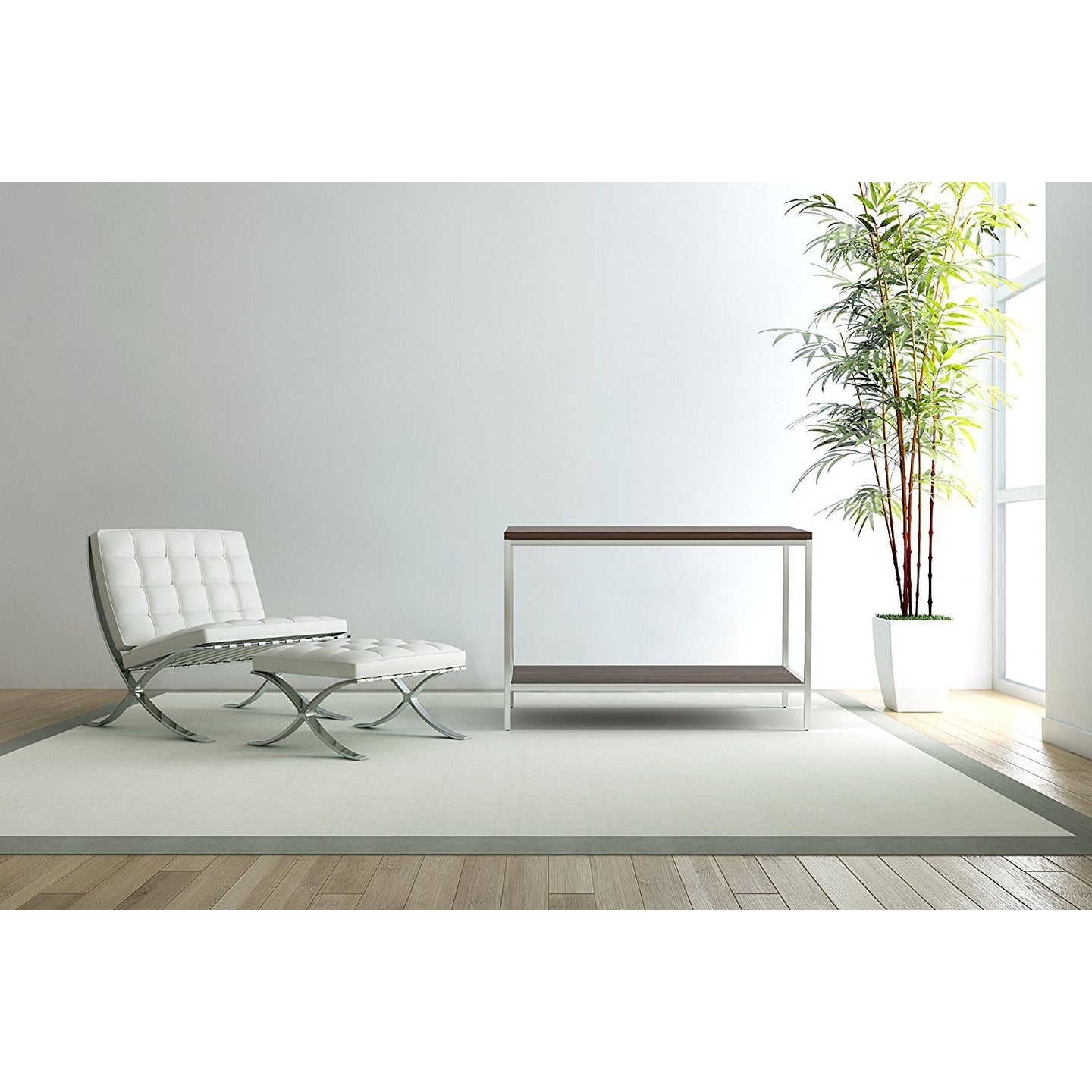 Bamboogle Dark Grey Console Table With Silver Legs BKL-10-S-4414-G-Minimal & Modern