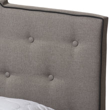 Baxton Studio Vivienne Modern and Contemporary Light Grey Fabric Upholstered King Size Bed Baxton Studio-0-Minimal And Modern - 5