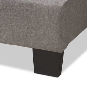 Baxton Studio Vivienne Modern and Contemporary Light Grey Fabric Upholstered King Size Bed Baxton Studio-0-Minimal And Modern - 6