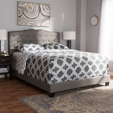 Baxton Studio Vivienne Modern and Contemporary Light Grey Fabric Upholstered King Size Bed Baxton Studio-0-Minimal And Modern - 7