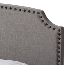 Baxton Studio Odette Modern and Contemporary Light Grey Fabric Upholstered King Size Bed Baxton Studio-0-Minimal And Modern - 5