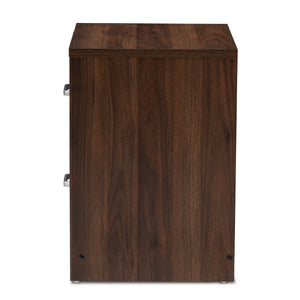 Baxton Studio Hansel Modern and Contemporary 2-Drawer Dark Brown and Dark Grey Finished Nightstand Baxton Studio-nightstands-Minimal And Modern - 4