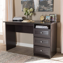 Baxton Studio Carine Modern and Contemporary Wenge Brown Finished Desk Baxton Studio-Desks-Minimal And Modern - 6