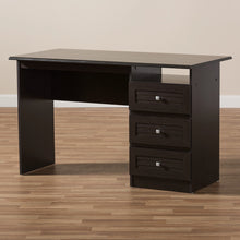 Baxton Studio Carine Modern and Contemporary Wenge Brown Finished Desk Baxton Studio-Desks-Minimal And Modern - 7