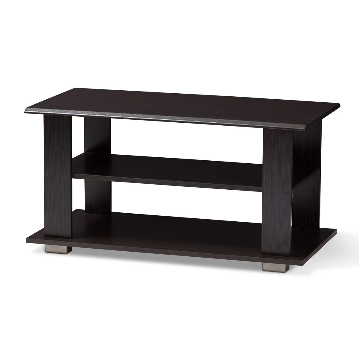Baxton Studio Joliette Modern and Contemporary Wenge Brown Finished Coffee Table Baxton Studio-coffee tables-Minimal And Modern - 1