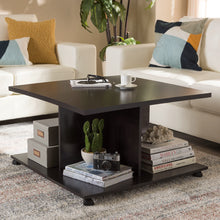 Baxton Studio Cladine Modern and Contemporary Wenge Brown Finished Coffee Table Baxton Studio-coffee tables-Minimal And Modern - 4