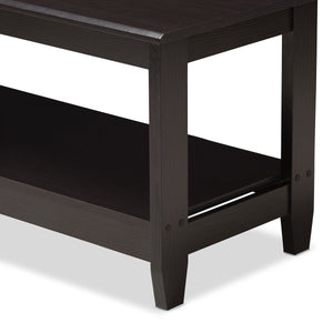 Baxton Studio Malena Modern and Contemporary Wenge Brown Finished Coffee Table Baxton Studio-coffee tables-Minimal And Modern - 4
