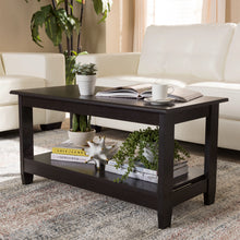 Baxton Studio Malena Modern and Contemporary Wenge Brown Finished Coffee Table Baxton Studio-coffee tables-Minimal And Modern - 5