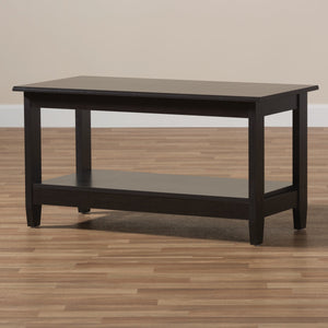 Baxton Studio Malena Modern and Contemporary Wenge Brown Finished Coffee Table Baxton Studio-coffee tables-Minimal And Modern - 6