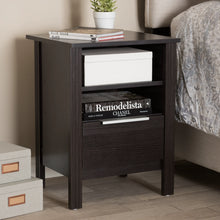 Baxton Studio Hamish Modern and Contemporary Wenge Brown Finished 1-Drawer Nightstand Baxton Studio-nightstands-Minimal And Modern - 7