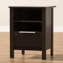 Baxton Studio Hamish Modern and Contemporary Wenge Brown Finished 1-Drawer Nightstand Baxton Studio-nightstands-Minimal And Modern - 8