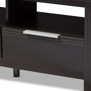 Baxton Studio Elaine Modern and Contemporary Wenge Brown Finished TV Stand Baxton Studio-TV Stands-Minimal And Modern - 5