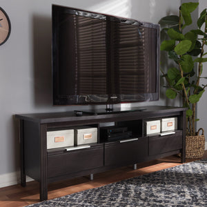 Baxton Studio Elaine Modern and Contemporary Wenge Brown Finished TV Stand Baxton Studio-TV Stands-Minimal And Modern - 7