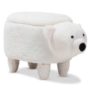 Baxton Studio Bjorn Contemporary Wool Upholstered Bear Storage Ottoman Baxton Studio-ottomans-Minimal And Modern - 1