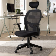 Baxton Studio Sebastian Modern and Contemporary Ergonomic Black Mesh Office Chair Baxton Studio-office chairs-Minimal And Modern - 2