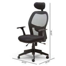Baxton Studio Sebastian Modern and Contemporary Ergonomic Black Mesh Office Chair Baxton Studio-office chairs-Minimal And Modern - 4