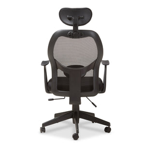 Baxton Studio Sebastian Modern and Contemporary Ergonomic Black Mesh Office Chair Baxton Studio-office chairs-Minimal And Modern - 7