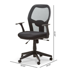 Baxton Studio Kurber Modern and Contemporary Ergonomic Black Mesh Office Chair With Bifma Certification Baxton Studio-office chairs-Minimal And Modern - 2