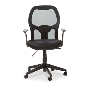 Baxton Studio Kurber Modern and Contemporary Ergonomic Black Mesh Office Chair With Bifma Certification Baxton Studio-office chairs-Minimal And Modern - 3