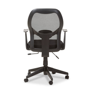 Baxton Studio Kurber Modern and Contemporary Ergonomic Black Mesh Office Chair With Bifma Certification Baxton Studio-office chairs-Minimal And Modern - 5
