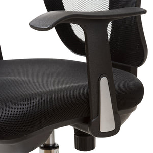 Baxton Studio Landon Modern and Contemporary and Contemporary Black Mesh Adjustable Height Drafting Stool Chair Baxton Studio-office chairs-Minimal And Modern - 7