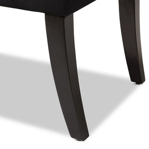 Baxton Studio Chandelle Luxe and Contemporary Black Velvet Upholstered Bench Baxton Studio-0-Minimal And Modern - 6