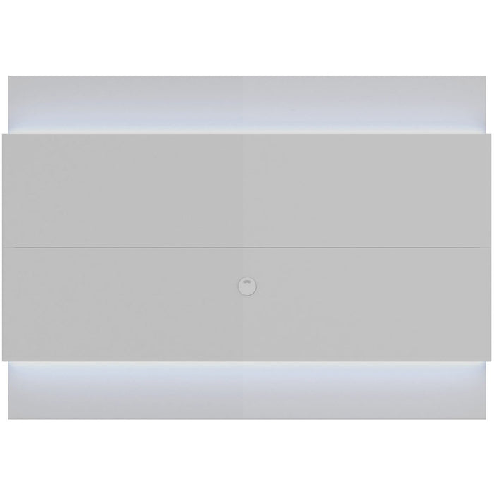 Manhattan Comfort Lincoln Floating Wall TV Panel 1.9 with LED Lights in White Gloss,  - Manhattan Comfort - 1
