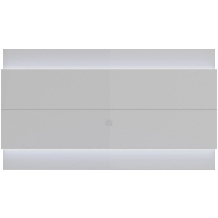 Manhattan Comfort Lincoln Floating Wall TV Panel 2.4 with LED Lights in White Gloss-Minimal & Modern