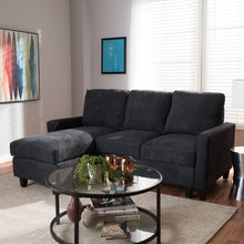 Baxton Studio Greyson Modern And Contemporary Dark Grey Fabric Upholstered Reversible Sectional Sofa Baxton Studio-sofas-Minimal And Modern - 3