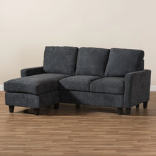 Baxton Studio Greyson Modern And Contemporary Dark Grey Fabric Upholstered Reversible Sectional Sofa Baxton Studio-sofas-Minimal And Modern - 5