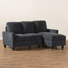Baxton Studio Greyson Modern And Contemporary Dark Grey Fabric Upholstered Reversible Sectional Sofa Baxton Studio-sofas-Minimal And Modern - 6