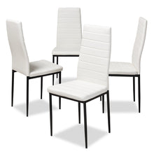 Baxton Studio Armand Modern and Contemporary White Faux Leather Upholstered Dining Chair (Set of 4) Baxton Studio-dining chair-Minimal And Modern - 1