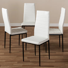 Baxton Studio Armand Modern and Contemporary White Faux Leather Upholstered Dining Chair (Set of 4) Baxton Studio-dining chair-Minimal And Modern - 4