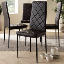 Baxton Studio Blaise Modern and Contemporary Brown Faux Leather Upholstered Dining Chair (Set of 4) Baxton Studio-dining chair-Minimal And Modern - 3