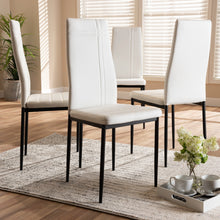 Baxton Studio Matiese Modern and Contemporary White Faux Leather Upholstered Dining Chair (Set of 4) Baxton Studio-dining chair-Minimal And Modern - 4